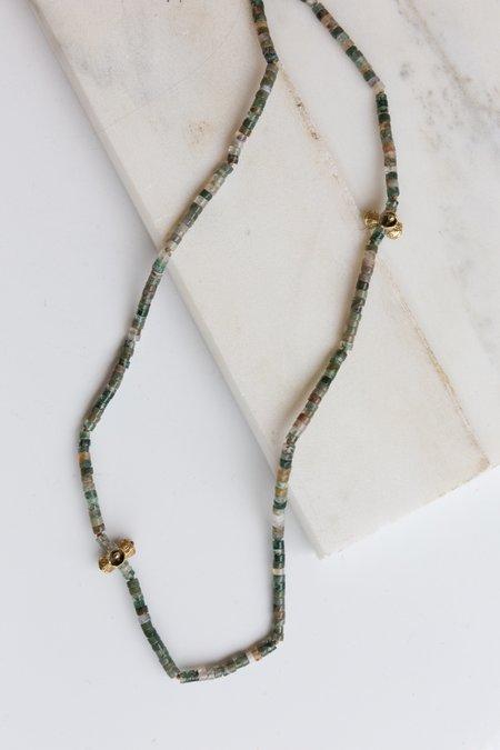 Kirsten Muenster Moss Agate Necklace