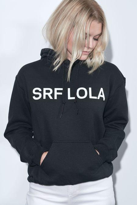Heidi Merrick x LOLA SRF Hoodie - White on Black