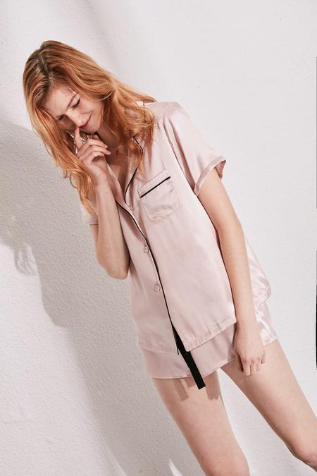SANGLUO Silk Shirt and Short Set