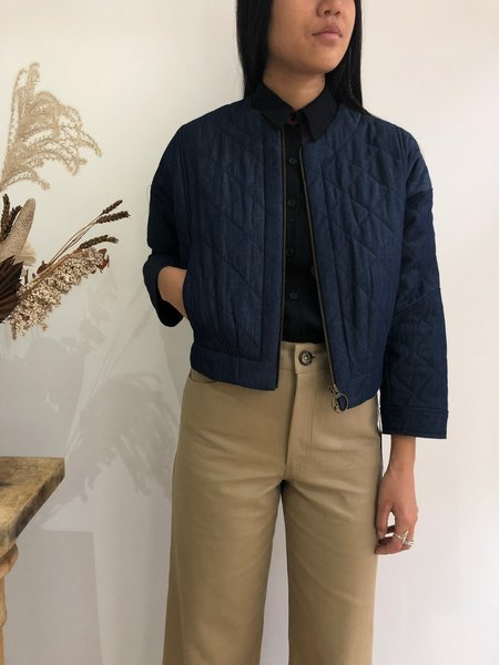 Eve Gravel Take A Chance Jacket - Quilted Denim