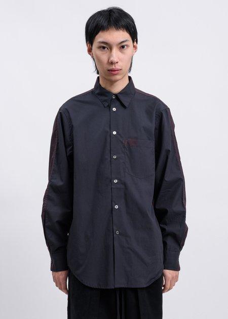 Komakino Sliced Shirt - Black/Burgundy