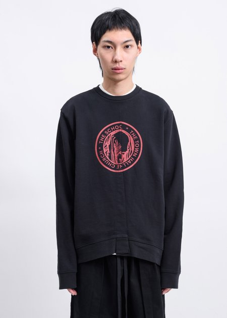 Komakino Fraternity Heavy Fleece Crewneck Sweater - Black