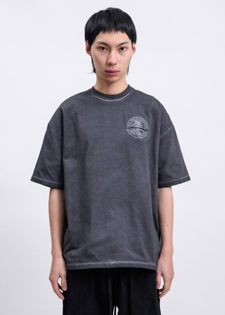 Komakino Space Dye Another Crack Heavy Jersey T-Shirt - Grey