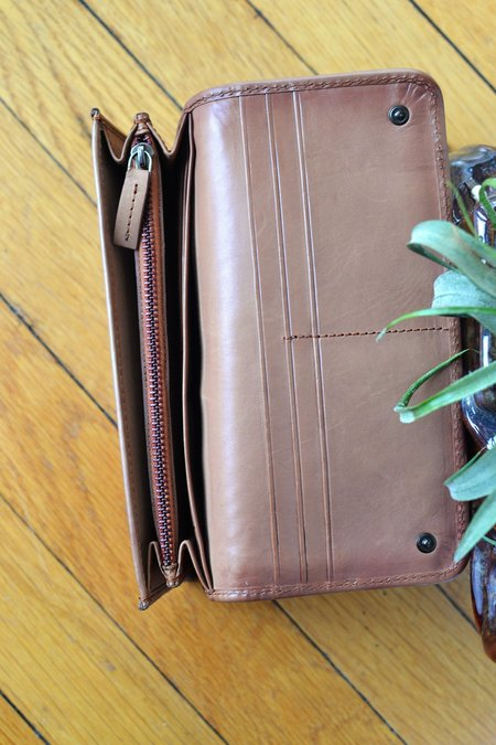 Dragon Diffusion Woven Leather Wallet - Tan
