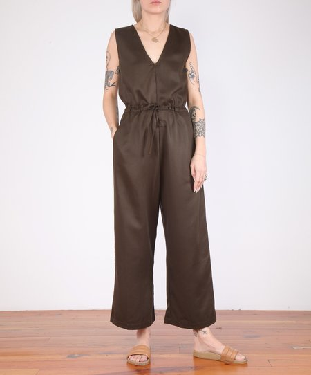 Ali Golden Twill Slit Back Jumper - Mud