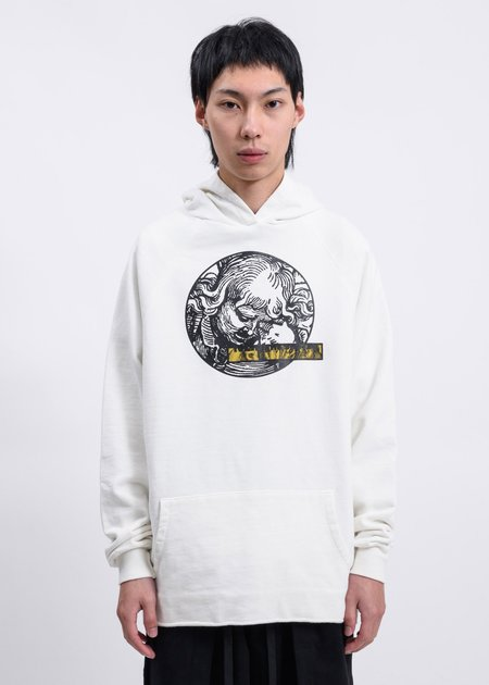 Komakino Gold Is The Metal  Heavy  Fleece Hoodie - White
