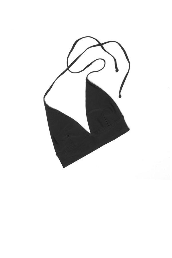 Kowtow Halter Triangle Top - Black