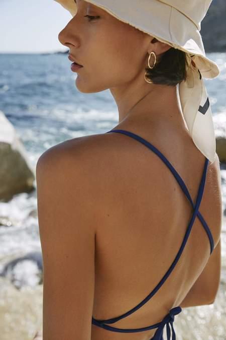 Kowtow Triangle One Piece Swimsuit - Cobalt