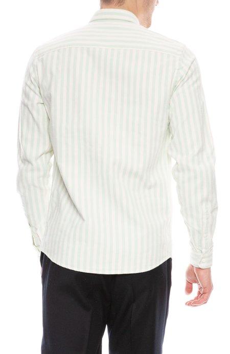 AMI Oxford Candy Stripe Shirt - White/Green
