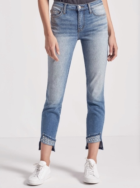 Current/Elliott THE TURNT ANKLE SKINNY STILETTO JEAN - Keeling Studded