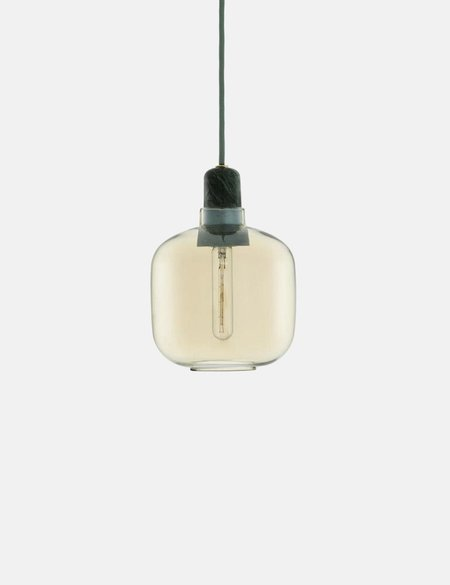 Normann Copenhagen Small Amp lamp EU - Gold/Green