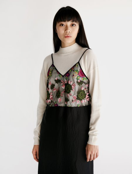 Hache Apron Camisole - Sheer Floral