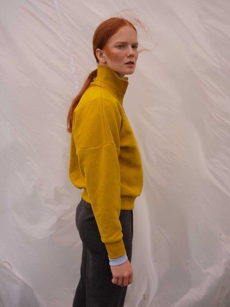 Odeyalo BEAUFORT zip-up sweatshirt - chartreuse