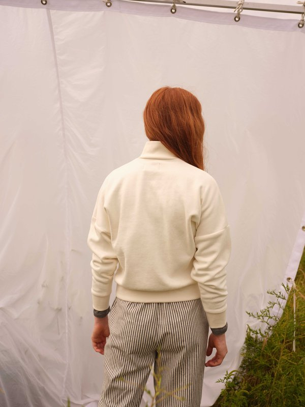 Odeyalo BEAUFORT zip-up sweatshirt - cream
