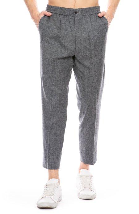 AMI Cropped Elastic Waist Trouser Pants