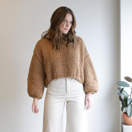 Hendrik.Lou Wool Cropped Sweater - Camel