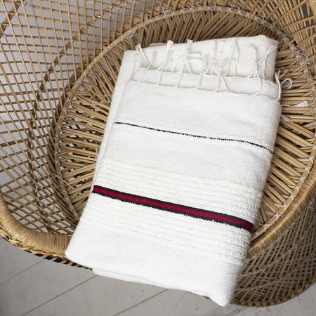 Hotel Baalbek Woolen Blanket - White