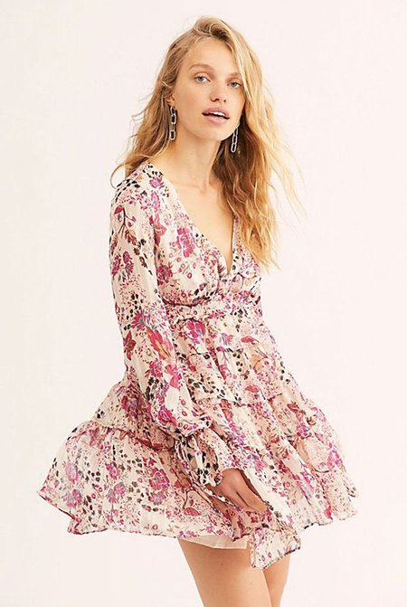 Free People Closer To The Heart Mini Dress - Ivory
