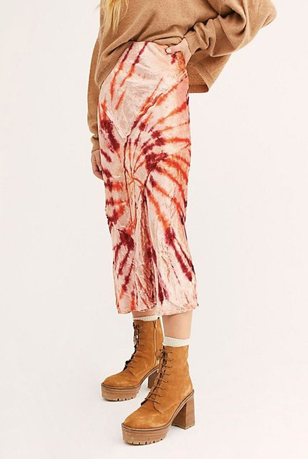 Free People Serious Swagger Tie Dye Skirt