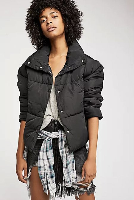Free People Weekender Puffer Jacket - Black