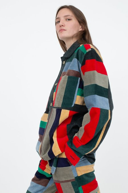 BODE Corduroy Patchwork Pullover - Multi