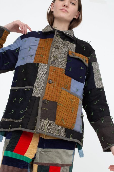 BODE Quilted Workwear Jacket - Multi Blue/Brown