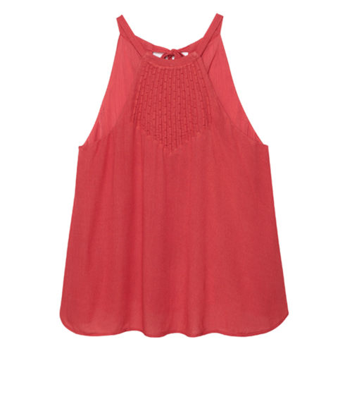 Olive & Oak Coral Pleat Tank