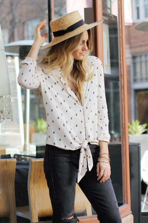 Knot Sisters Cactus Top