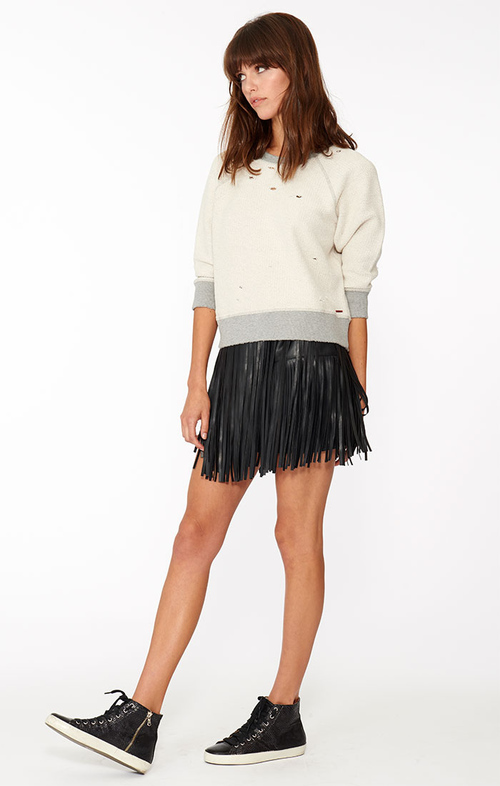 Philanthropy Clover Mini Fringe Skirt