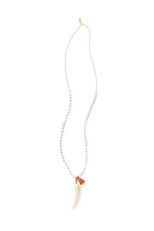 Tess + Tricia Bella Tassel Antler Necklace