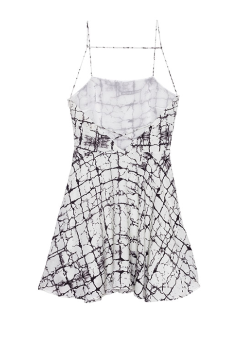 Marble Print Strappy Dress