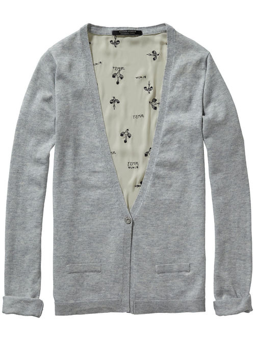 Cardi w/ Embroidered back