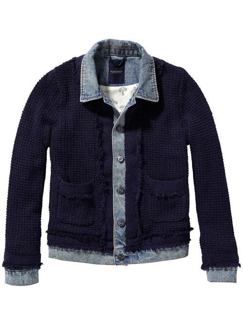 Knit Denim Jacket