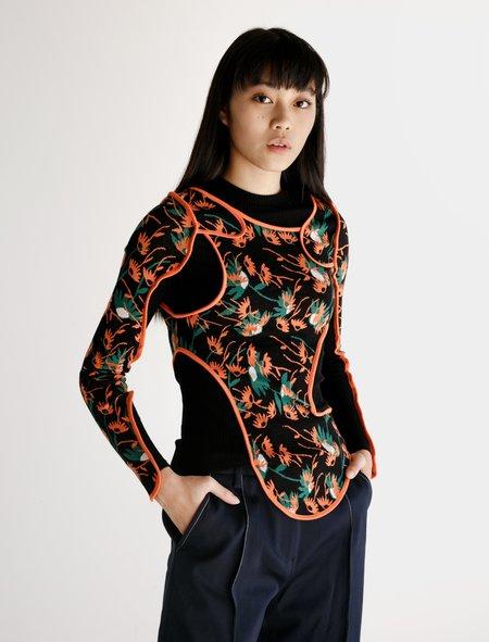 ECKHAUS LATTA Drip Top - Patchwork Floral