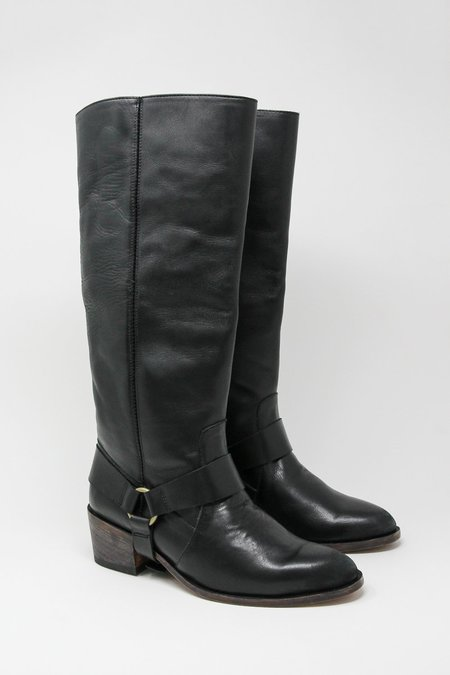 Esquivel Monica Calf Boot w/ Removable Ankle Harness - Black