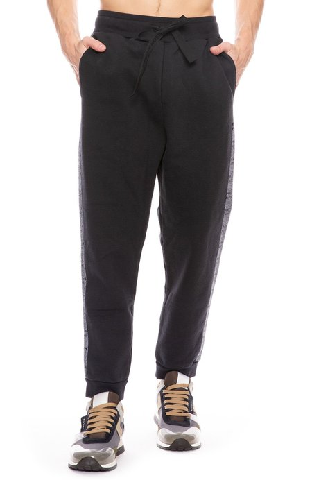 Maison Kitsuné Jacquard Rib Jog Pants - Black