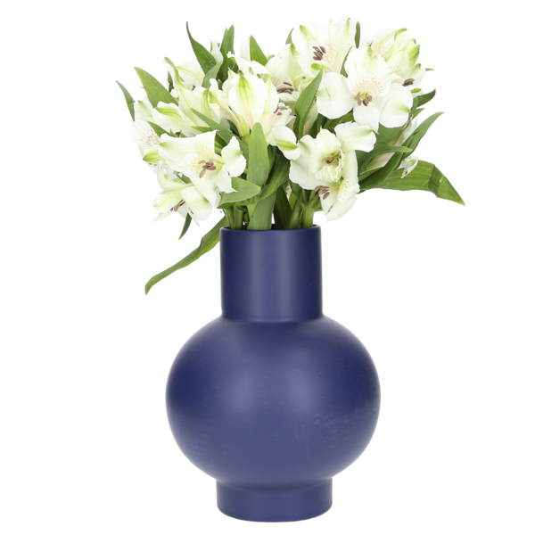 Raawii Large Strøm Vase - blue