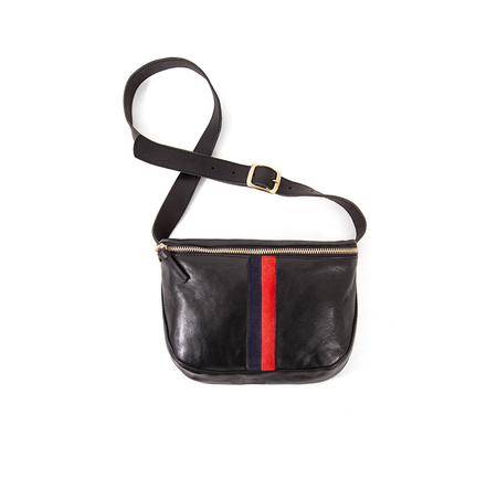 Clare V. Fannypack - Black with Stripes