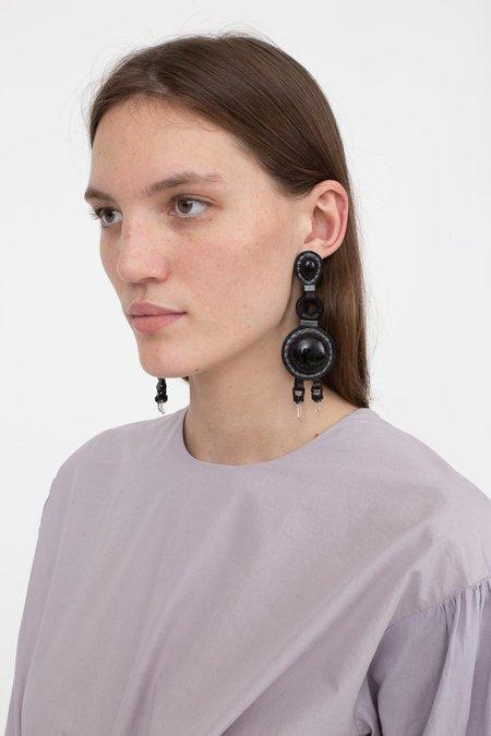 Robin Mollicone Chandelier Earrings - Onyx/Quartz