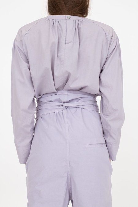 Cosmic Wonder Organic Cotton Meditation Pullover Shirt - Violet Flame