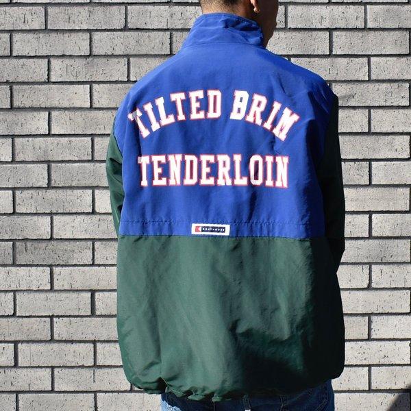Tilted Brim Classic Team Windbreaker - green/blue