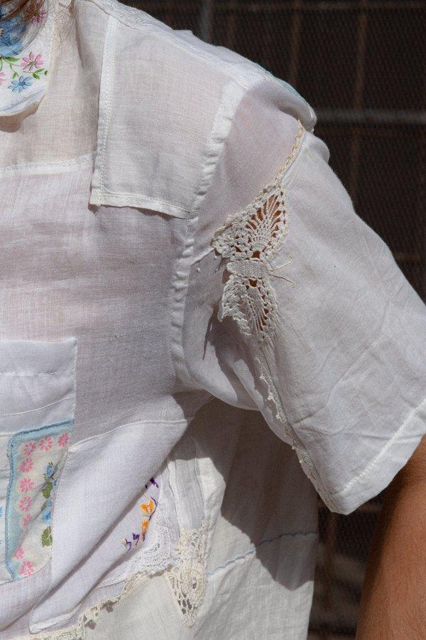 BODE Handkerchief Bowling Shirt - White