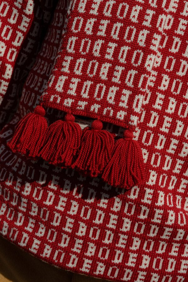 Bode Signature Knit Scarf - Red