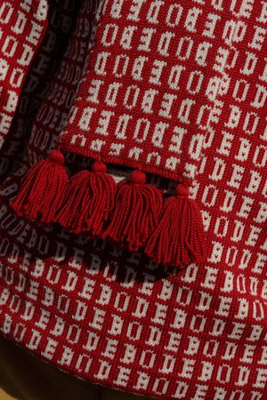 Bode Signature Knit Sweater - Red