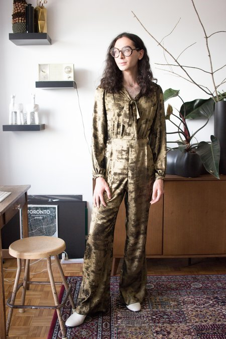 Birds of North America Thrasher Jumpsuit - Crushed Gold