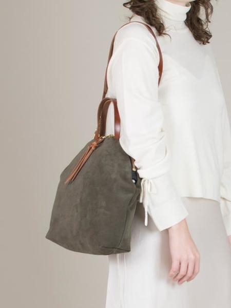 ELEVENTHIRTY Anni Large Shoulder Bag - Suede Moss