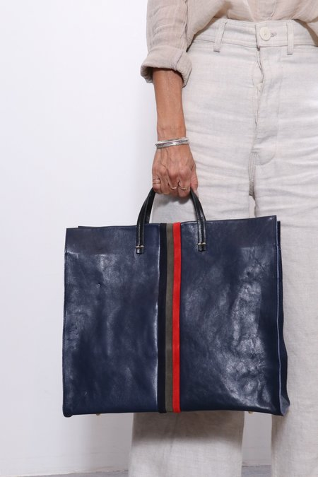 Clare V. Suede Simple Tote - Desert Inlay Stripes
