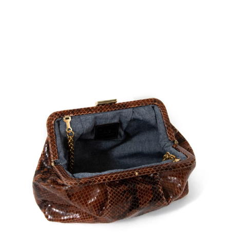 Clare V. Sissy Bag - Cocoa Python