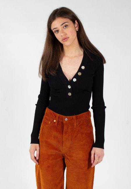 NOBODY DENIM Nolita Knit Top - black