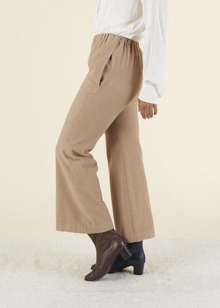 Hache Flare Leg Easy Pant - CAMEL
